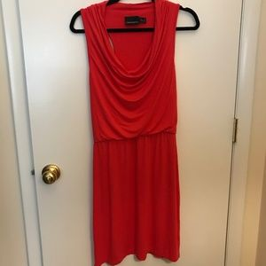 Red Cowl Neck Cynthia Rowley Dress